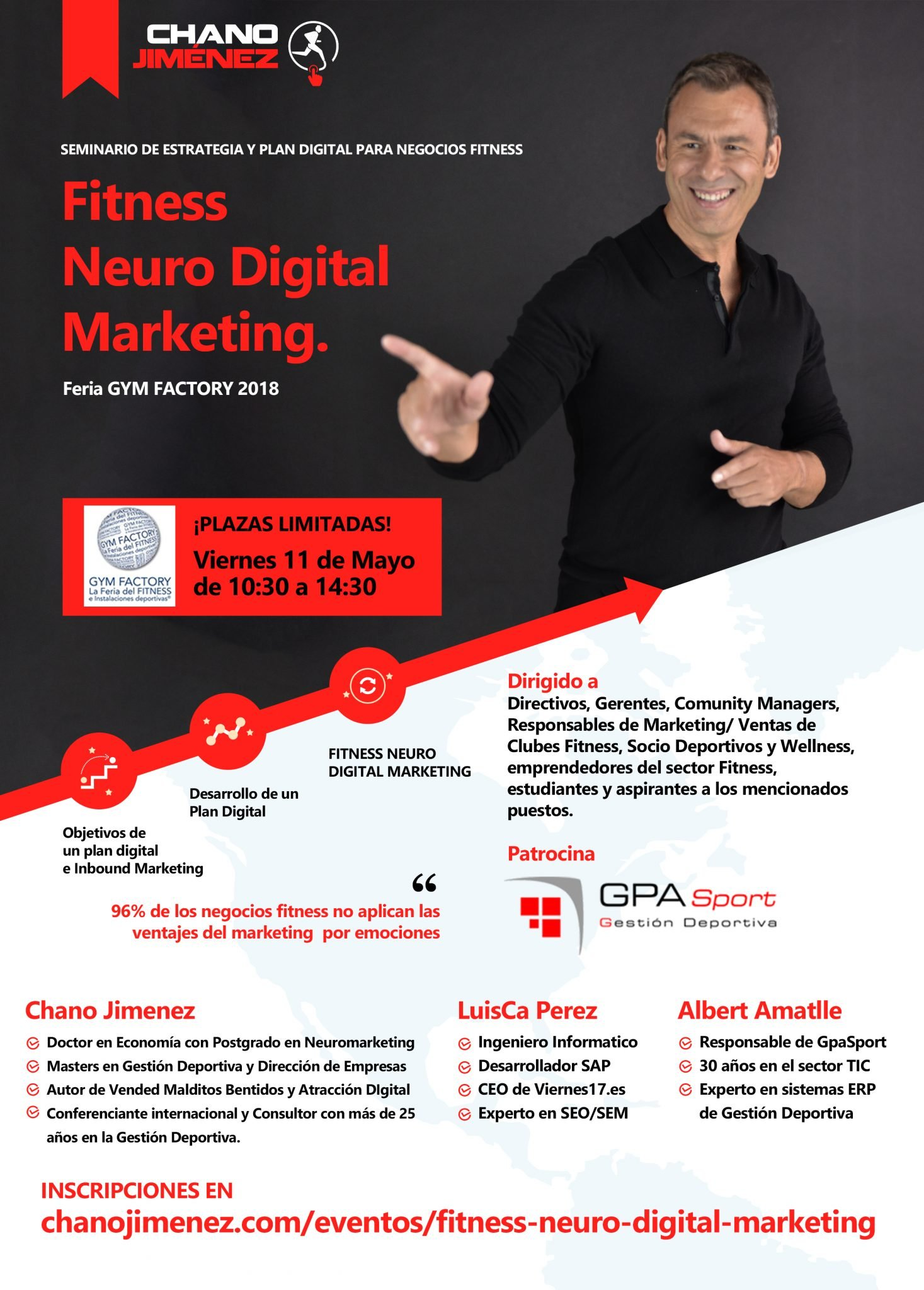 FITNESS NEURO DIGITAL MARKETING - IFEMA 2018 - Consultoria Deportiva Chano Jimenez